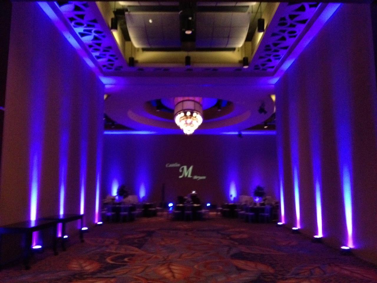 Ballroom Lighting Invision Events Wedding