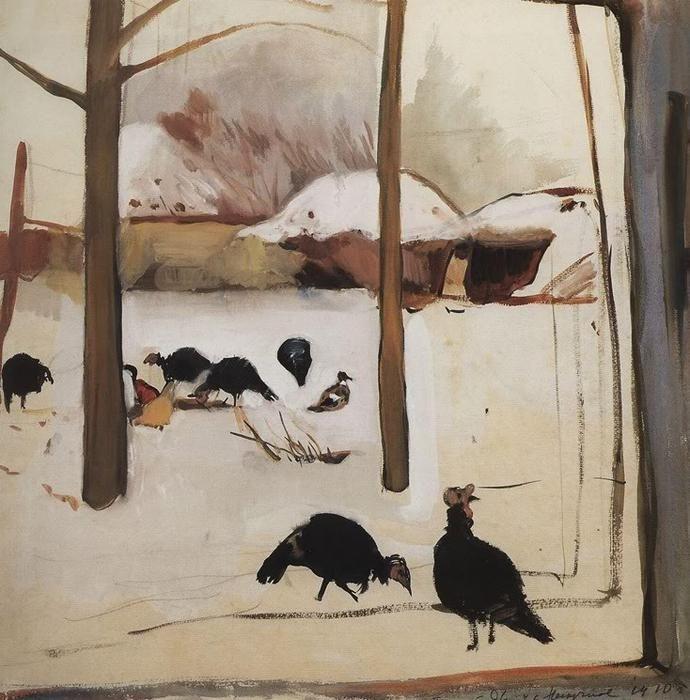Poultry yard, 1910 - Zinaida Serebriakova - WikiArt.org