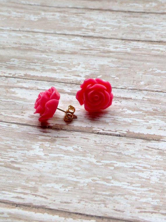 Bridal Pink Rose Jewelry Flower Girl Jewelry by JewelsbyRosies