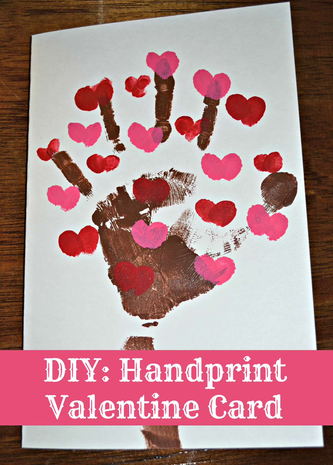 A quick and easy last minute Valentine Card idea DIY Handprint