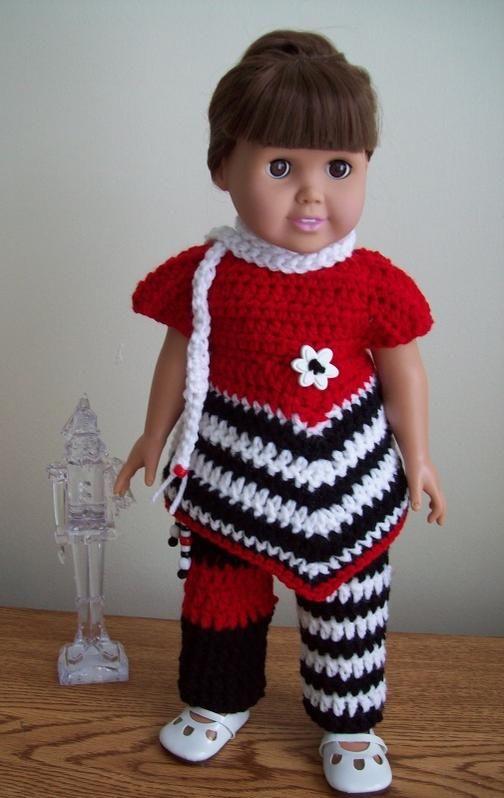 Black White Red All Over Crochet Found On Httpwww