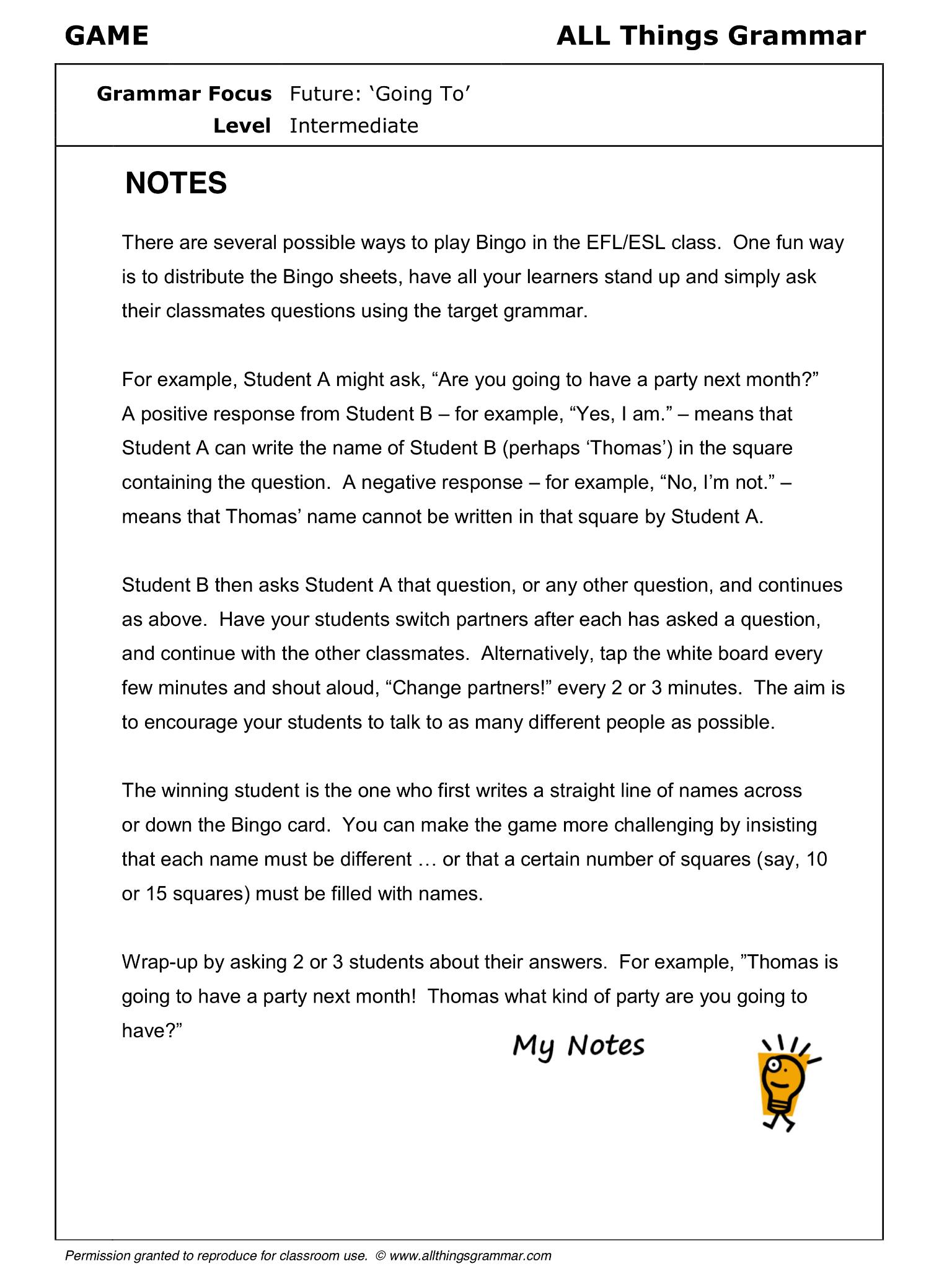 English Grammar Future: Going To www.allthingsgrammar.com/future ...