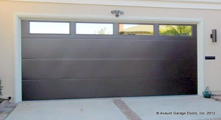 Contempora Ry Smooth Flush Steel Garage Door With Windows 16x7