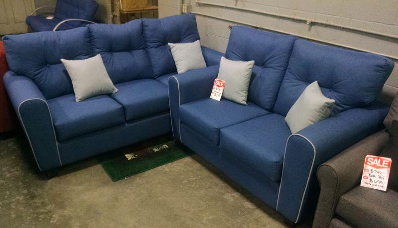 Swell Custom Tailored Sofa And Love Seat Shown In Jitterbug Denim Cjindustries Chair Design For Home Cjindustriesco