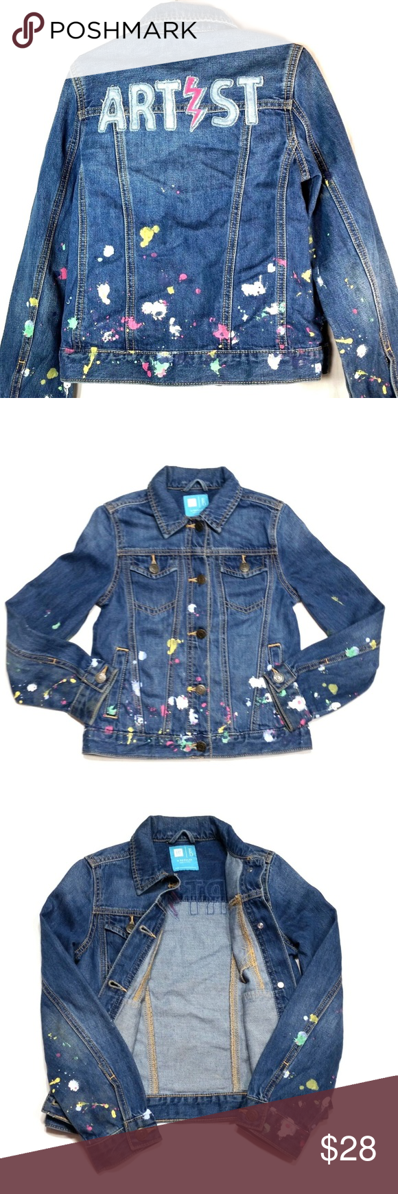 Gap Kids Ed Denim Jean Jacket Girls M 8 9 Gap Kids Ed Denim Jean Jacket Girls M 8 9 Usable Condition Hole On Front Jean Jacket For Girls Kids Fashion Fashion [ 1740 x 580 Pixel ]