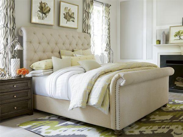 Boho Chic King Upholstered Bed  Woodstock Furniture Outlet