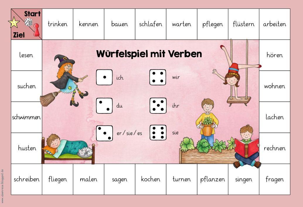 Drei Würfelspiele zu Nomen, Verben und Adjektiven In Kooperation mit ...