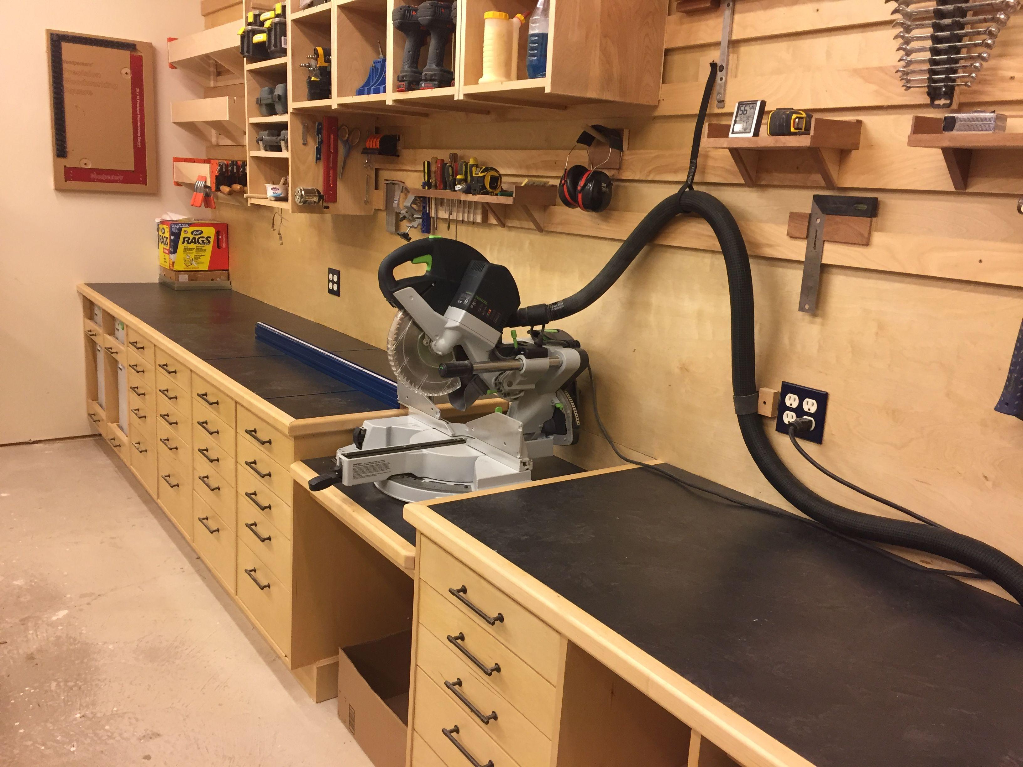 kapex miter saw station woodworking shop layout on top 55 best garage workshop ideas basics of garage workshop ideas explained id=78524