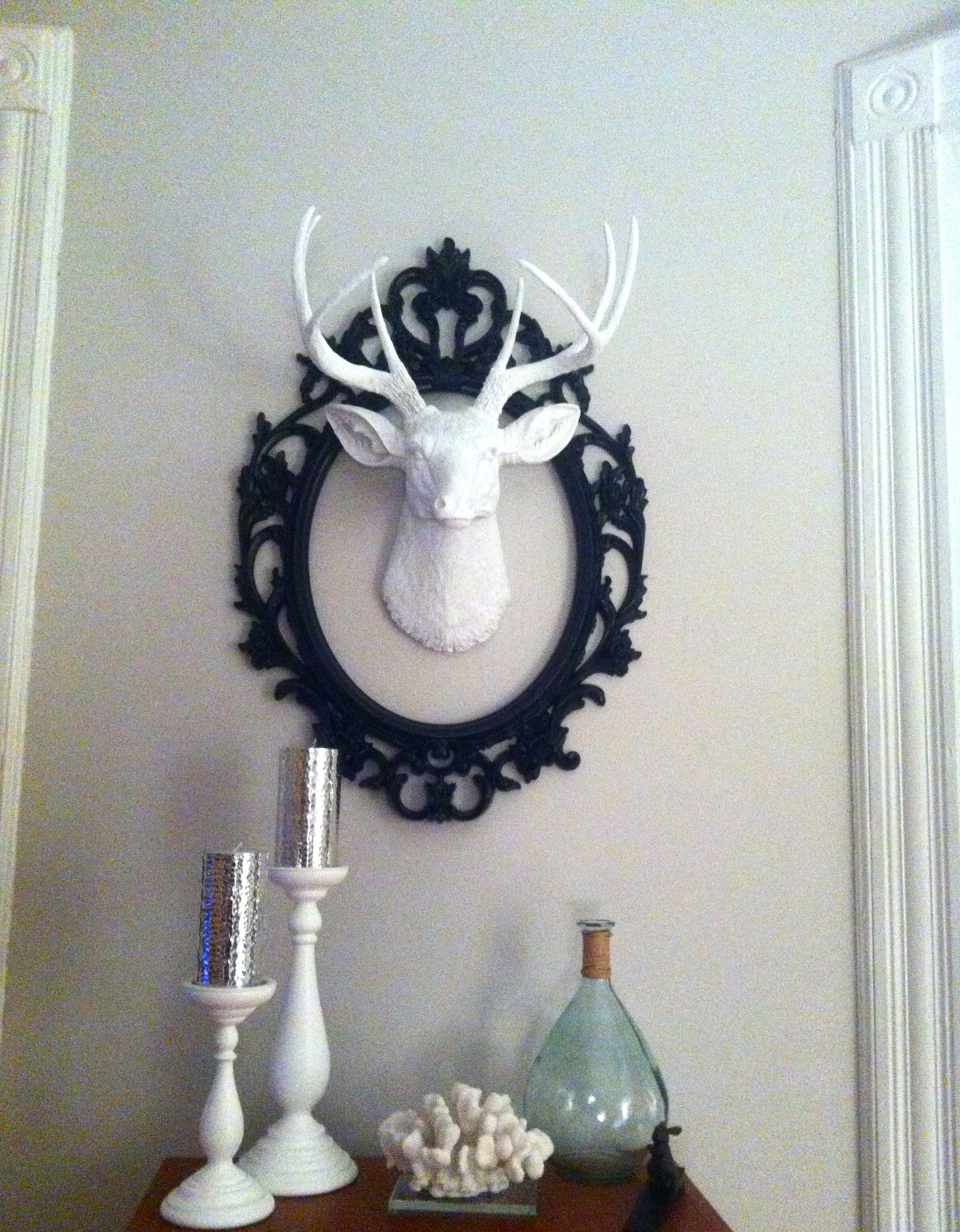 The Templeton Large Faux All White Deer Head Decor Wall Mount Deer Head Decor White Faux Taxidermy Decor
