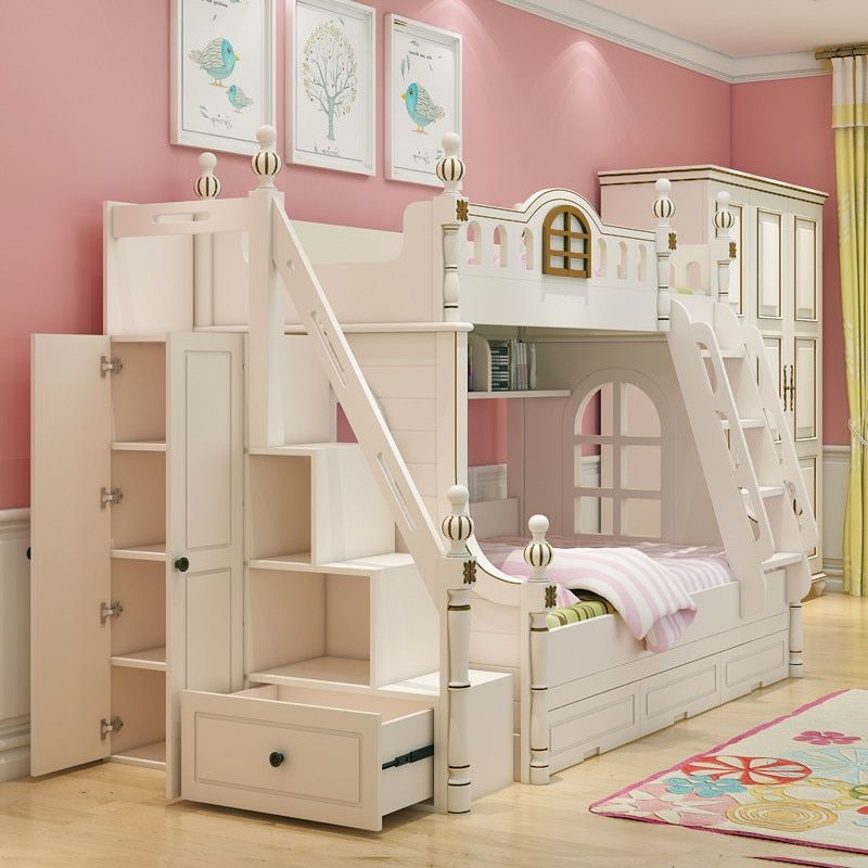 Online Shop European Princess Children Bedroom Furniture Double