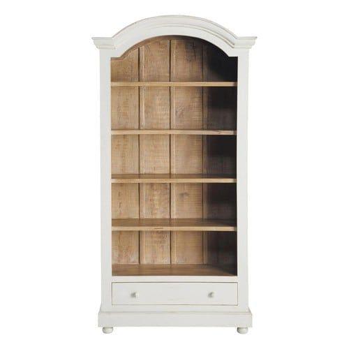 Bibliothèque en manguier massif blanche L 100 cm | bookcase ...