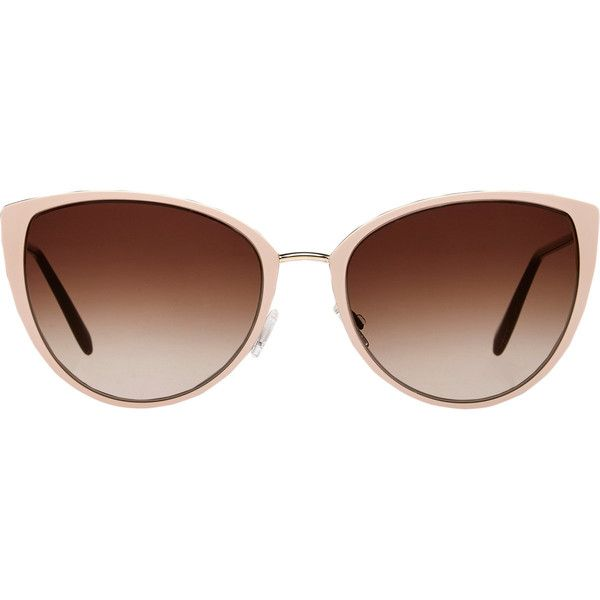 Oliver Peoples Jaide Sunglasses (3.415 NOK) ❤ liked on Polyvore featuring accessories, eyewear, sunglasses, glasses, очки, colorless, oliver peoples sunglasses, cateye sunglasses, clear lens sunglasses and logo sunglasses