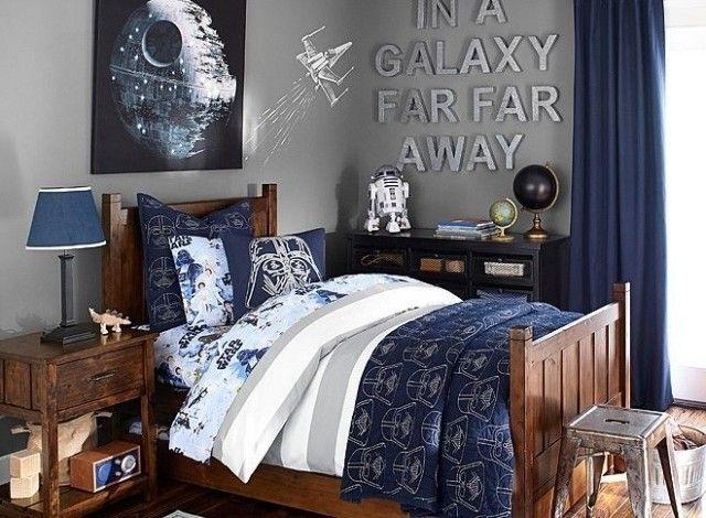 88 id es cool de d co chambre enfant au charme r tro bleu fonc deco chambre enfant et star wars. Black Bedroom Furniture Sets. Home Design Ideas