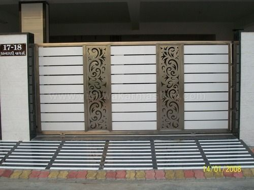 Driveway gates steel google search ideas for the house for Main gate door design
