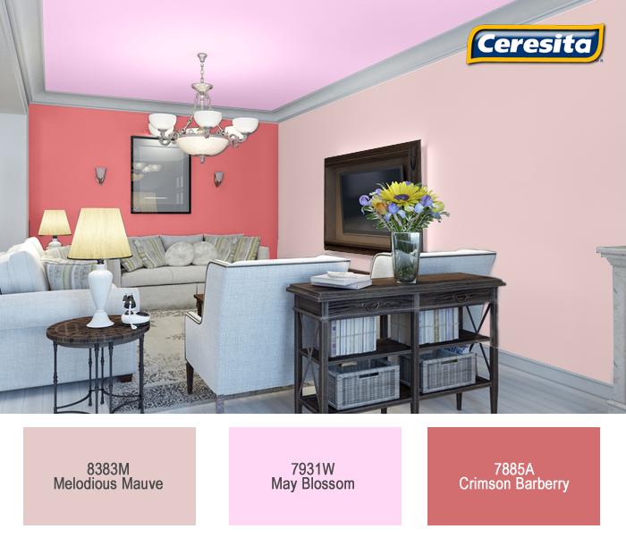 Ceresitacl Pinturasceresita Color Comedor Pintura Decoracion Rosa Rojo Hogar Crema Cod Pintura Interior Casa Colores Para Sala Pintura De Interiores