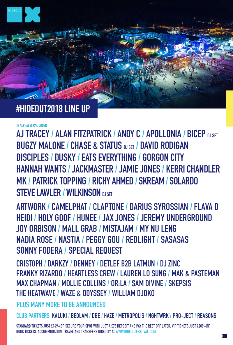 Hideout Festival Announces Second Wave of acts... After