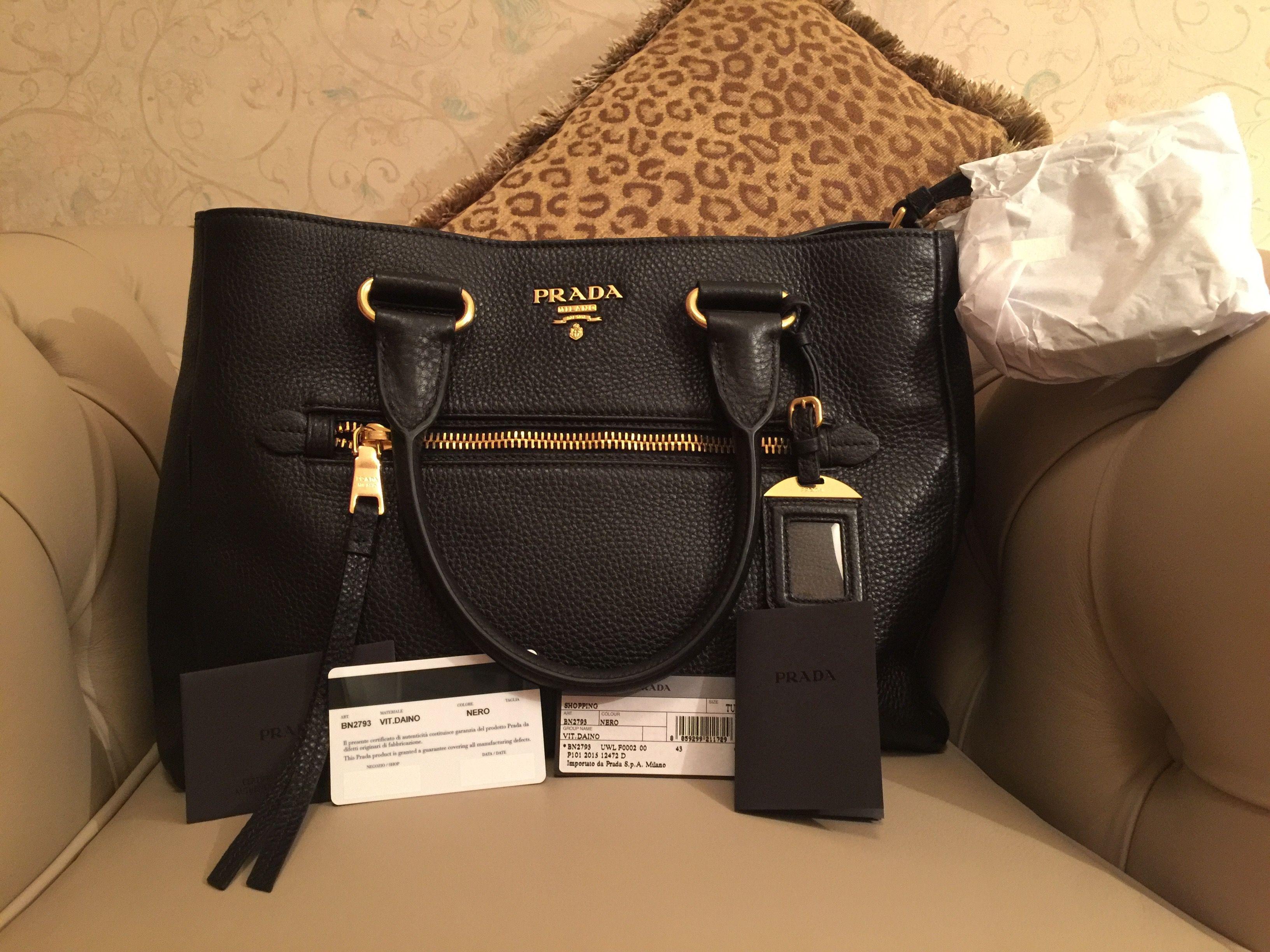 ... 1045 prada black bag new auth free shipping