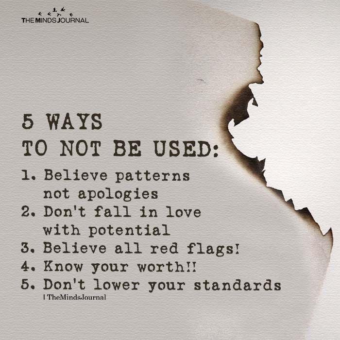 5 Ways To Not Be Used