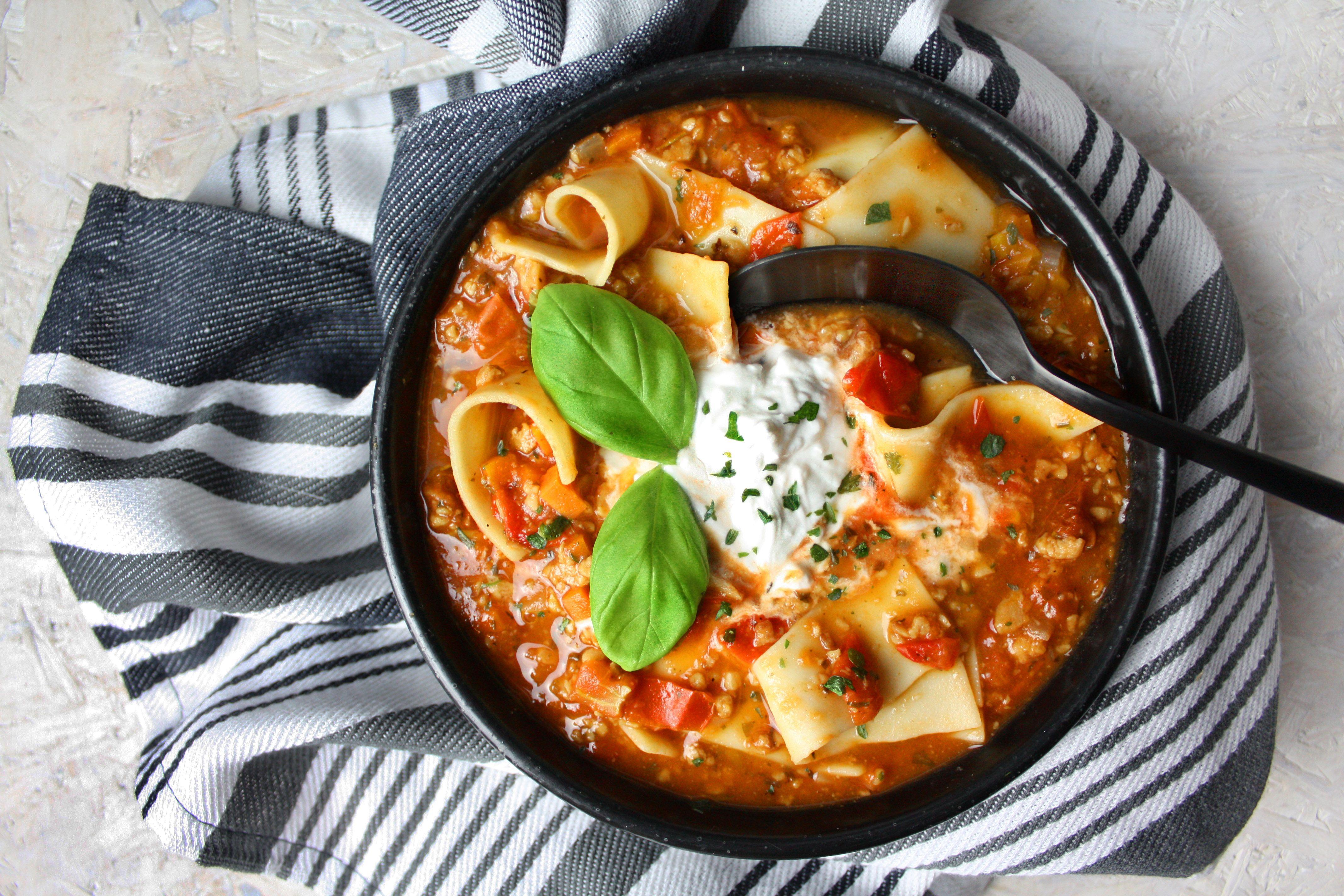Raffiniert und einfach – Lasagne-Suppe | Toastenstein.com