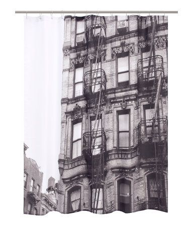 H Shower Curtain Nyc Fire Escapes Brownstone Baby Cool