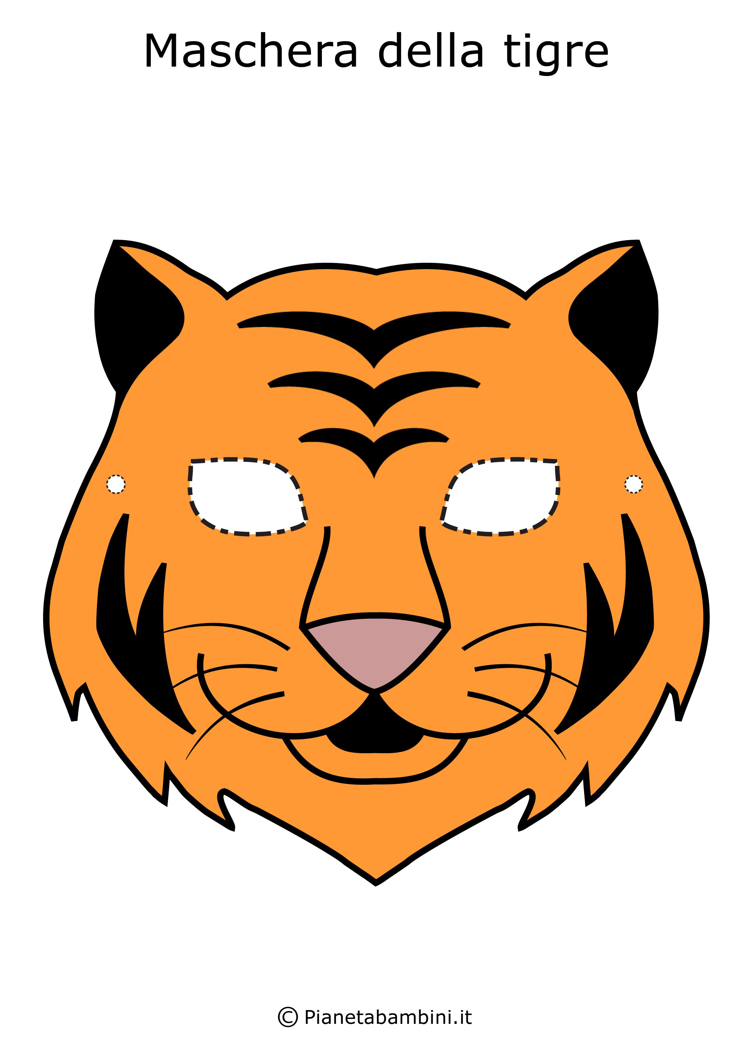 Maschere animali pics photos tigre maschere di animali for Maschere da colorare animali