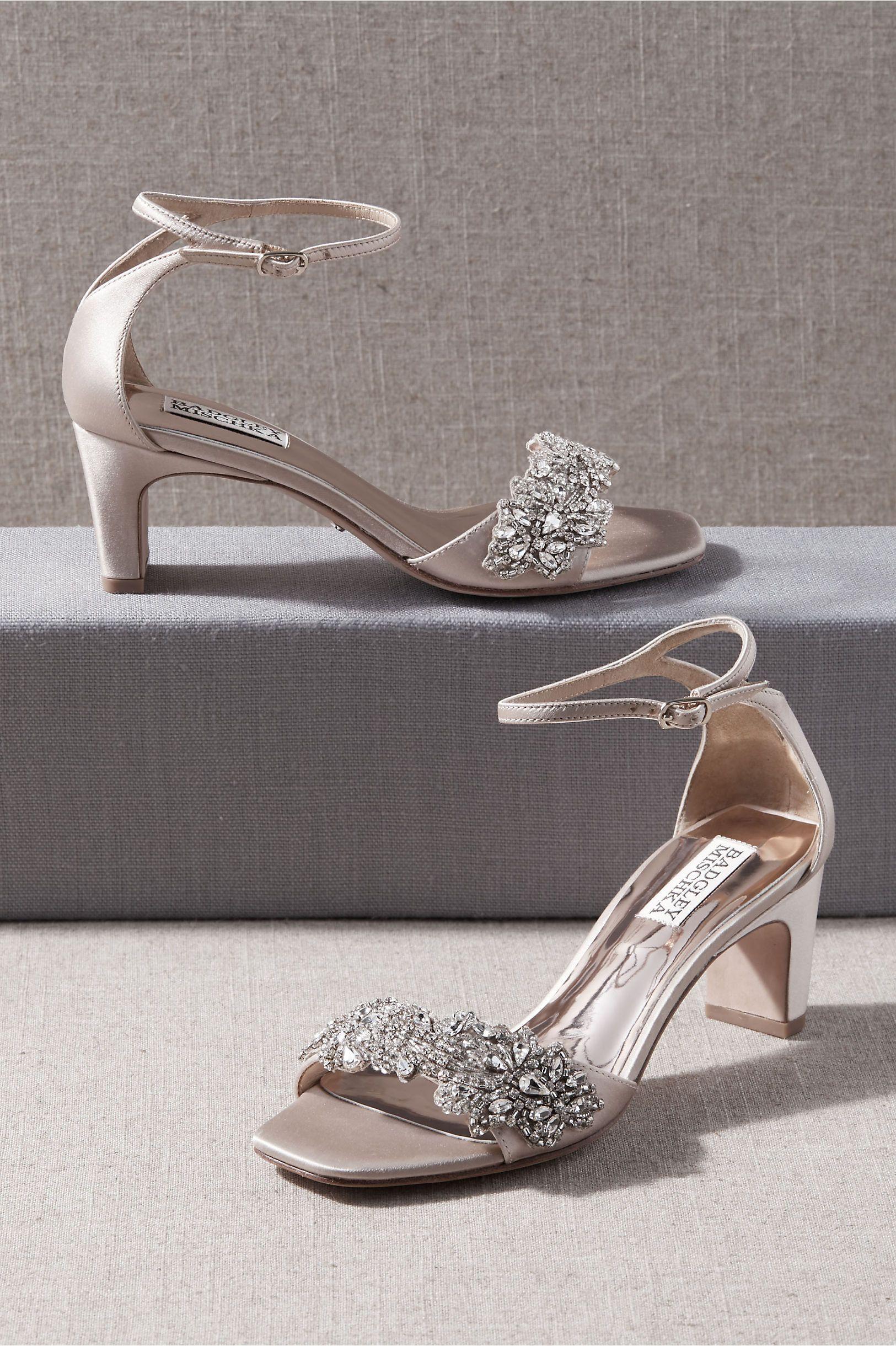 Badgley Mischka Alison Heels Bridal Shoes Wedding Shoes Low Heel Wedding Shoes