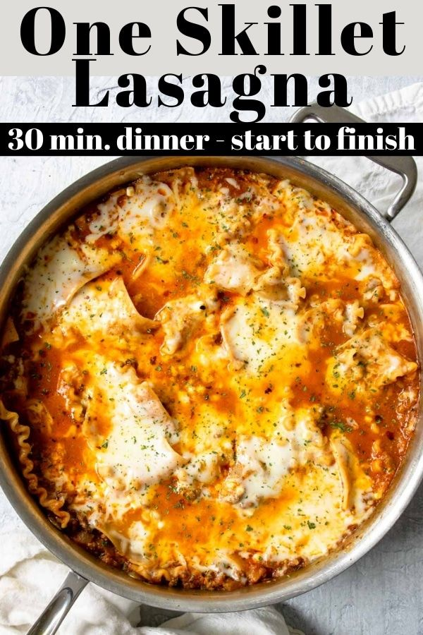 30 minute Easy Skillet Lasagna | Mom's Dinner