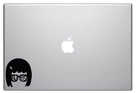 Tina Belcher Laptop Decal by Shaileyann on Etsy
