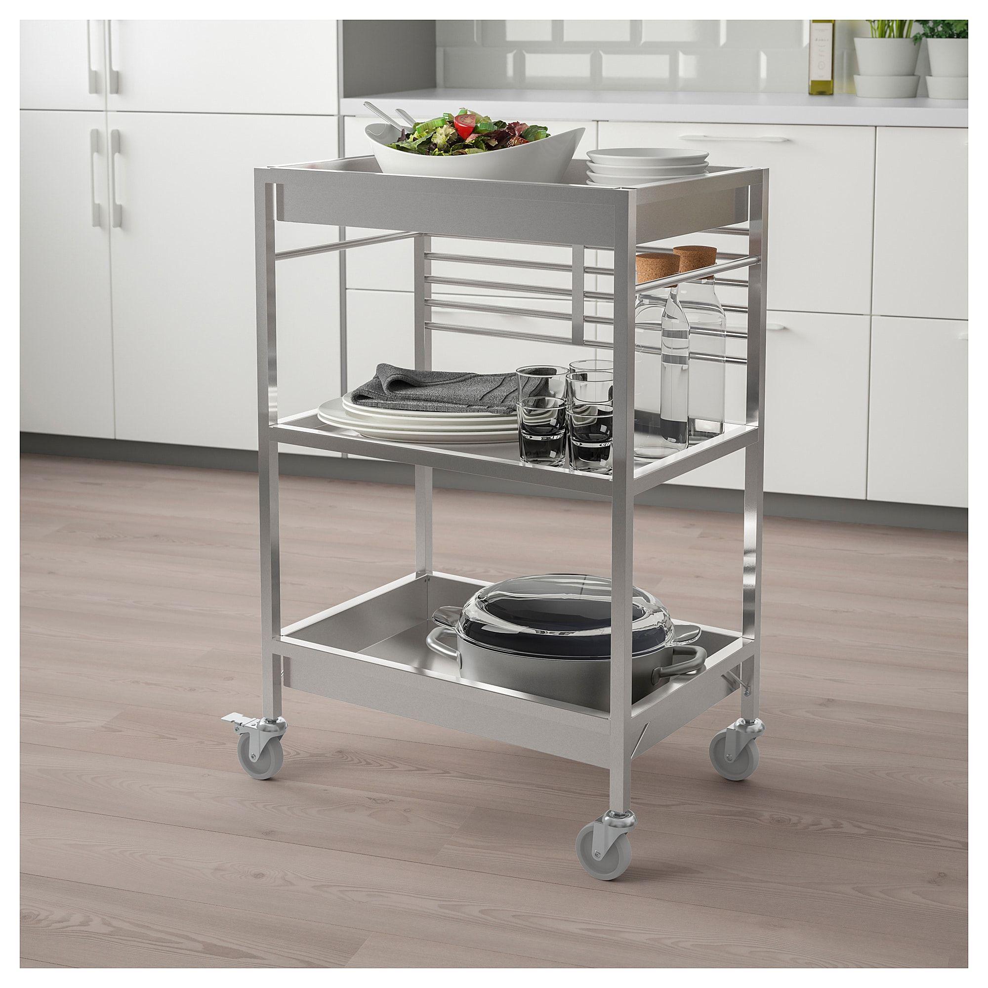 Ikea Kungsfors Stainless Steel Kitchen Cart Kitchen In