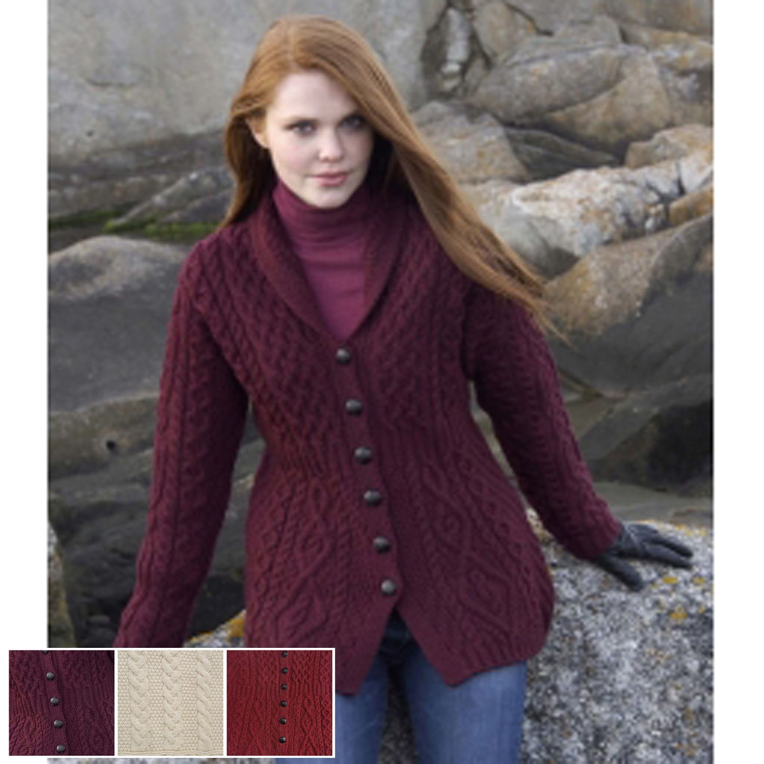 Irish shawl collar aran jacket my style irish clothing irish shawl collar aran jacket bankloansurffo Gallery