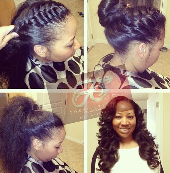 Full Sew In w/minimal leave out for versatility styling