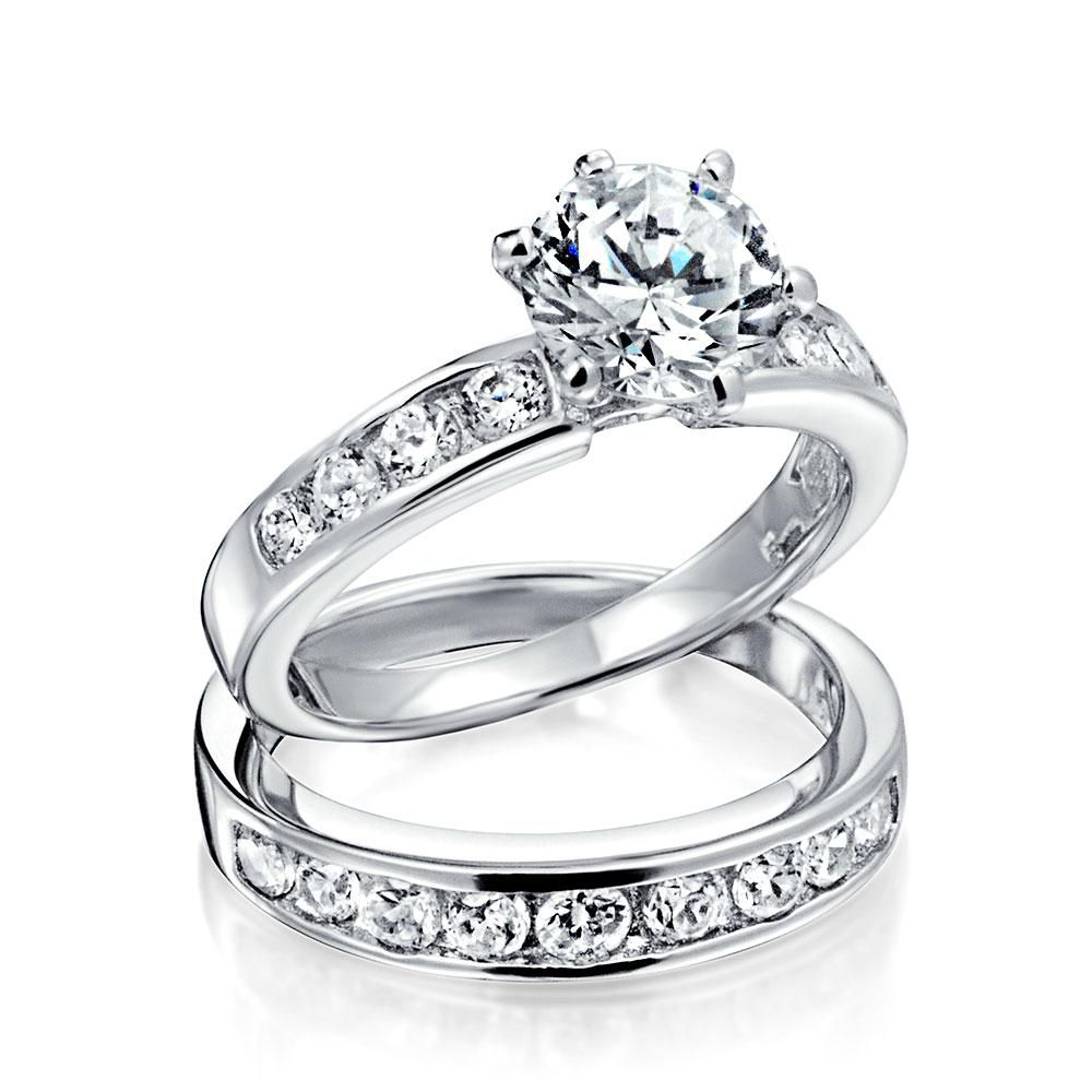 2ct Solitaire Aaa Cz 6 Prong Engagement Ring 925 Sterling Silver