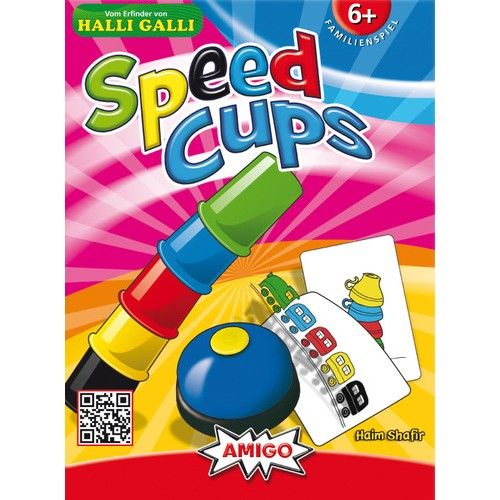 Speed Cups pondrá a prueba tu habilidad y rapidez. Cada jugador tiene 5 cubiletes de colores y compite por completar el objetivo lo más rápido posible. ¡Hace falta tener buen ojo y reflejos! ¿Los has colocado bien?, ¡pues corre a tocar el timbre!