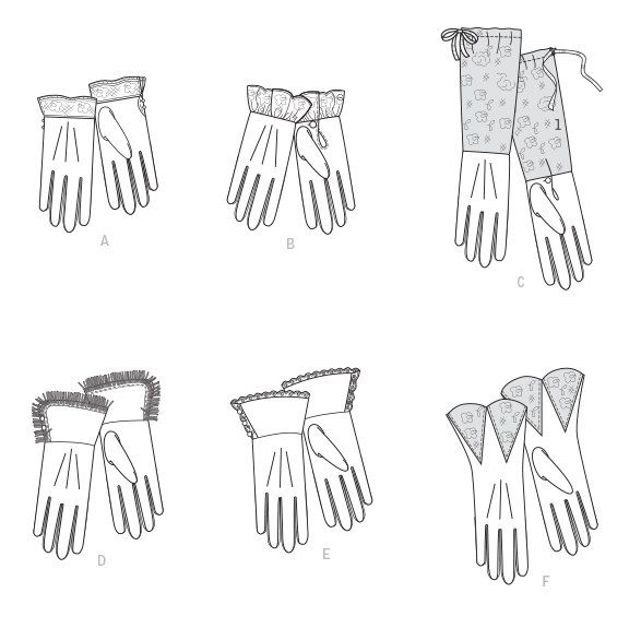 Diy Sewing Pattern-Butterick 6398-Gloves One Size Costume, Steampunk ...