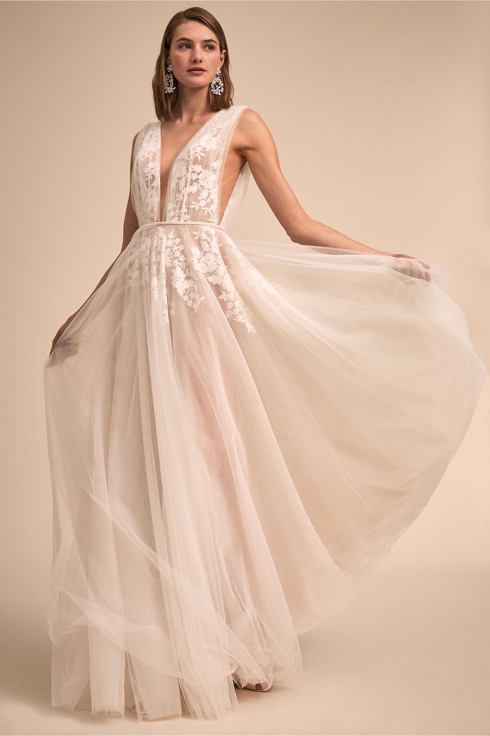 Bhldns Liz Martinez Abilene Gown In Ivory Products Wedding