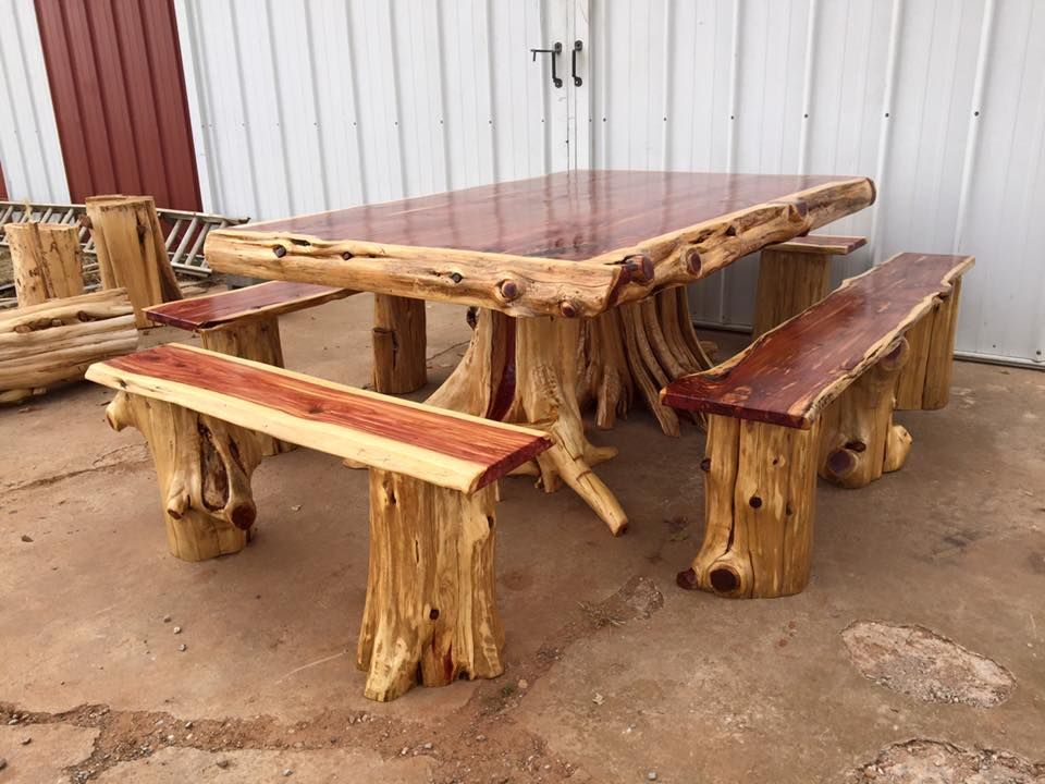 Cedar Log Dining Table From Wild West Creations Rusticfurniture