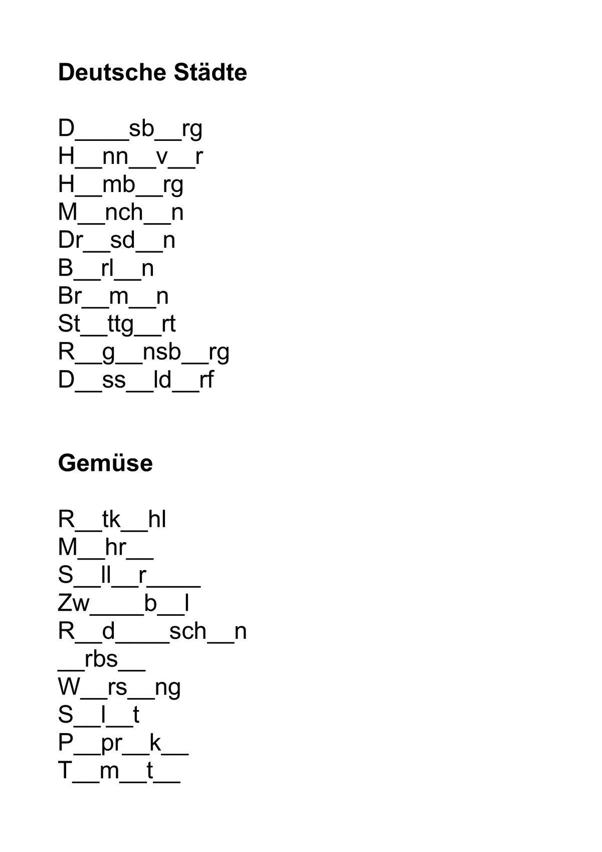 Wörter Raten