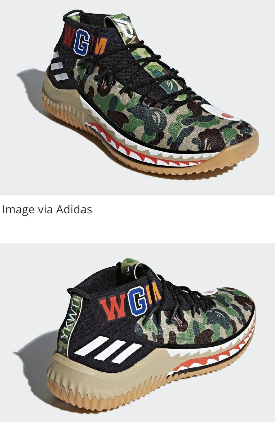 The Bape x Adidas Dame 4 | Adidas dame, Sneakers, Top sneakers