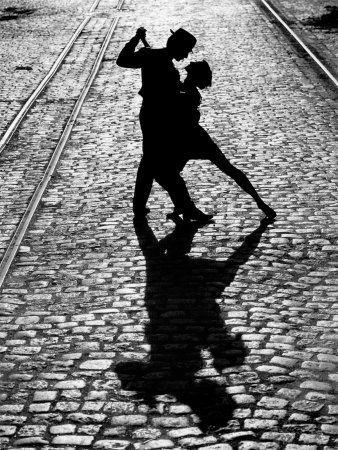 Tango, Dansant, Lumière Et Ombre