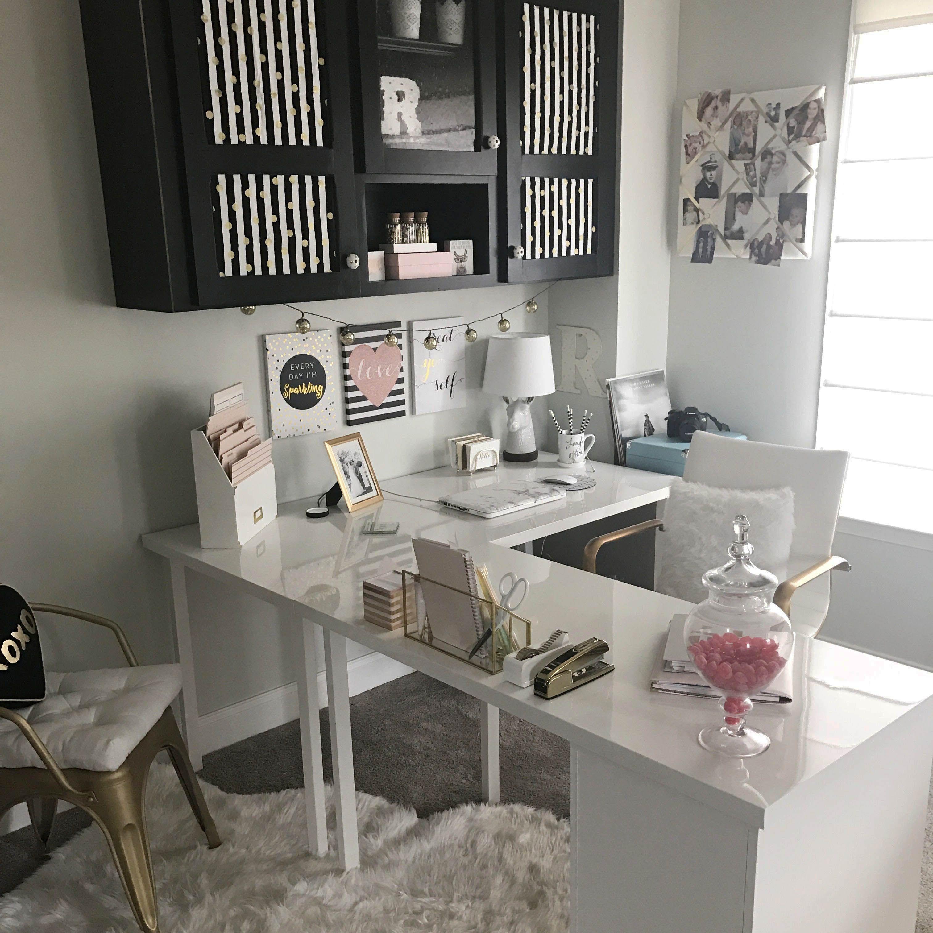 42 spectacular work desk designs for any sort of office home rh pinterest com