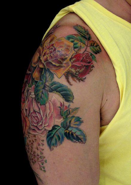 Victorian roses 2   Tattoos   Tattoos, Beautiful tattoos ...  Victorian Flower Tattoo