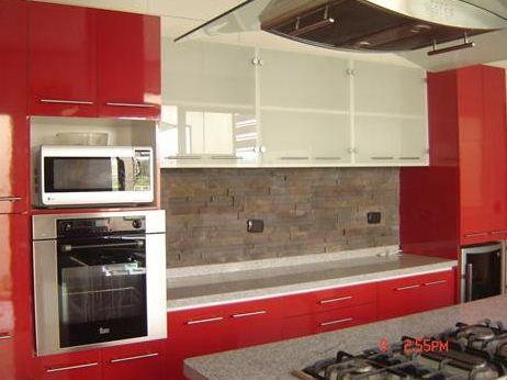 cocina roja Deco Pinterest Cocina roja, Rojo y Cocinas