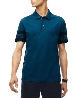 8d24770d0cfbd1 LACOSTE Stripe Trim Piqué Slim Fit Polo Shirt.  lacoste  cloth  shirt. Find  this Pin and more on Lacoste Men ...