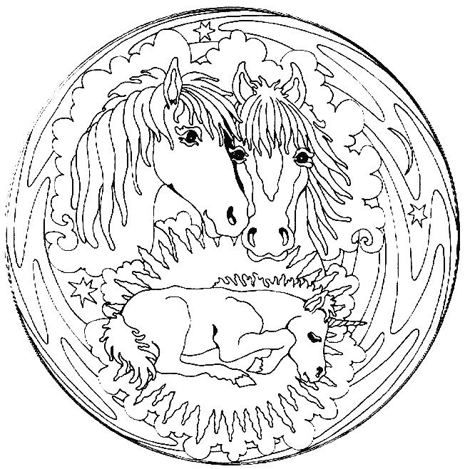 9 Complexe Coloriage Cheval Mandala Pictures Coloriage Mandala