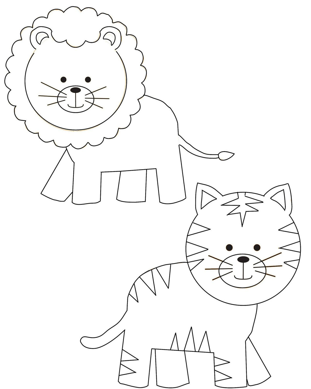 Template For Jungle Animals T Shirts Jungle Animals Animal Tshirt Animal Templates