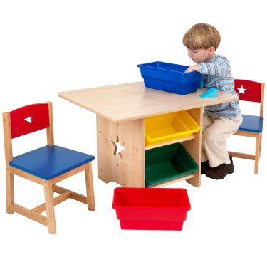 KidKraft Star Table and Chair Set with Primary Bins - 26912  sc 1 st  Pinterest & KidKraft Star Table and Chair Set with Primary Bins - 26912 | pat ...