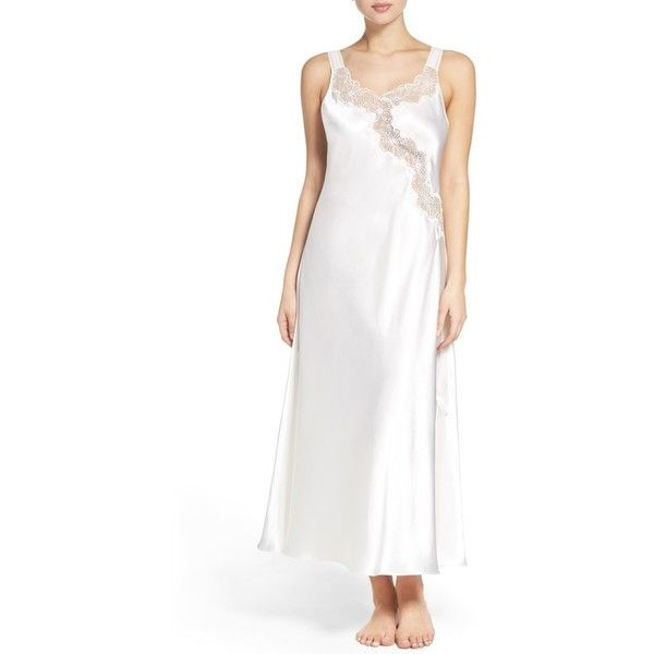 0c85e7cc2 Women s Oscar De La Renta Sleepwear Charmeuse Nightgown ( 76) ❤ liked on  Polyvore featuring