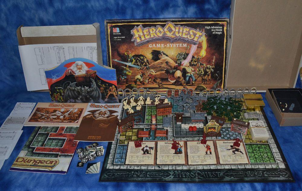 Hero Quest Game System 4101 MB Games, Ebay, Hero