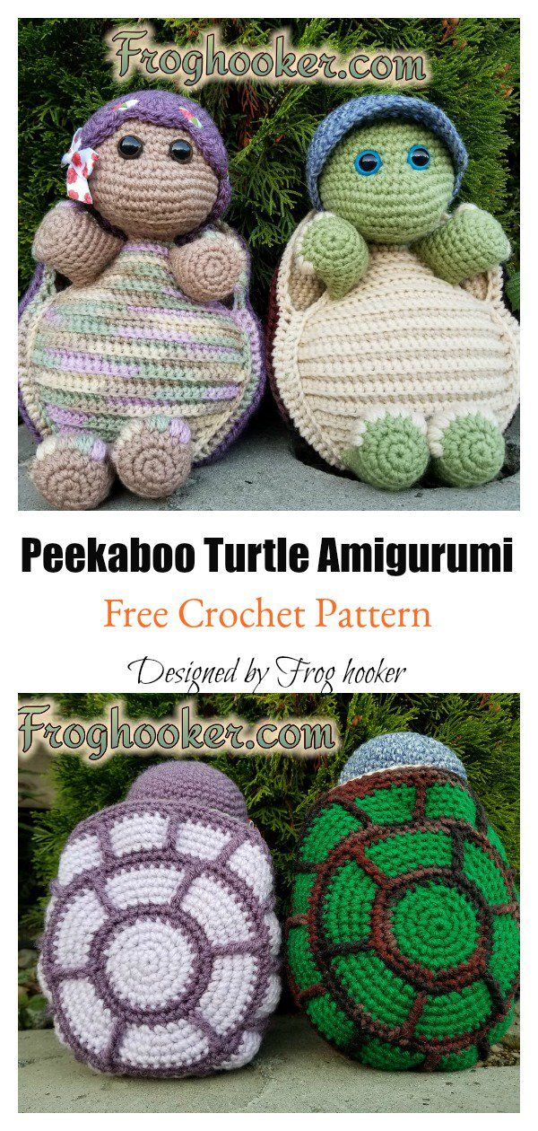 Crochet Turtle Amigurumi Free Patterns #crochetturtles