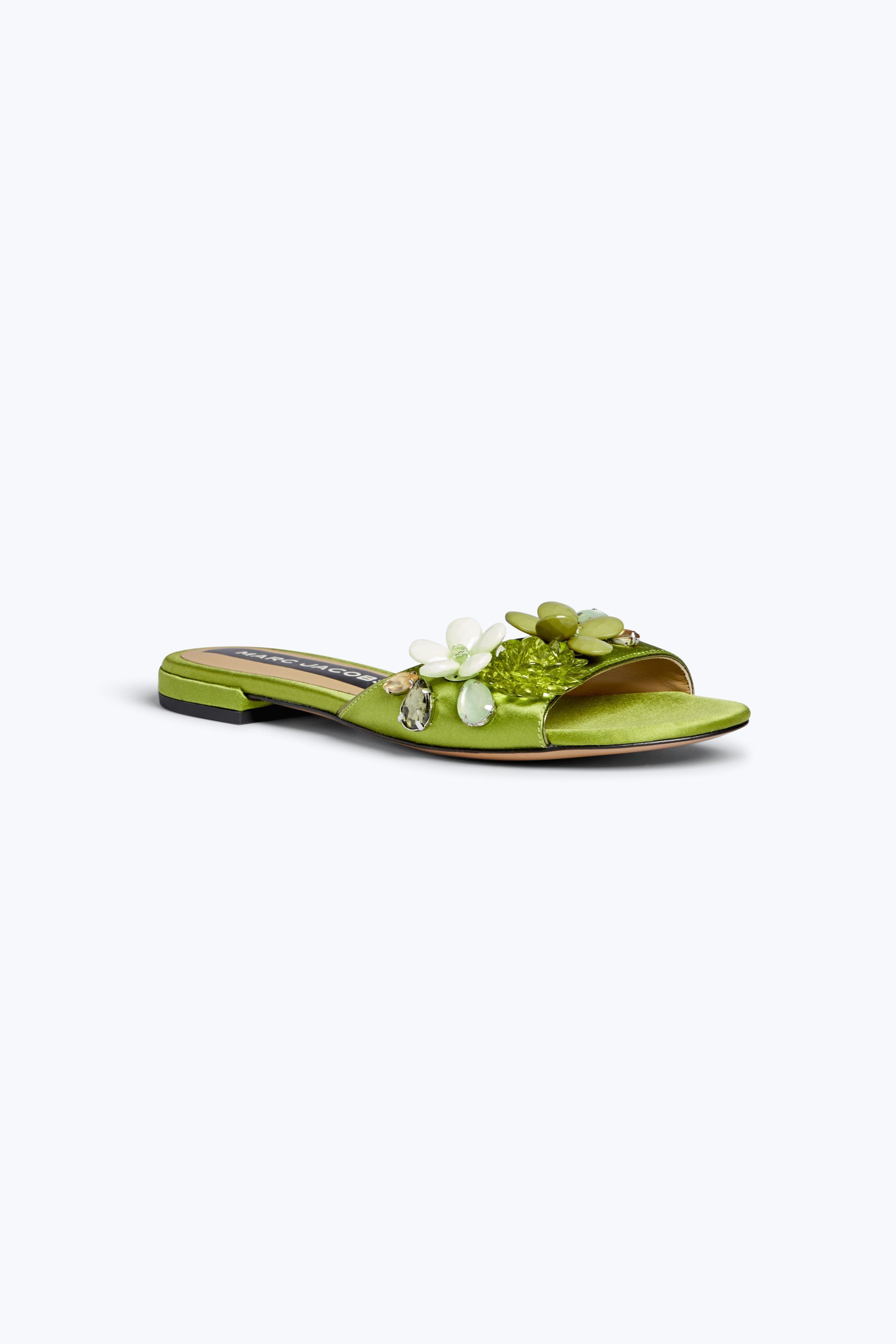 Clara embellished slides - Green Marc Jacobs SZ63HID4X